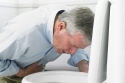 Тошнота - симптом ночных болей в животе