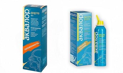 Аквалор Форте и Аквалор Экстра Форте - препараты на основе морской соли, используемые для промывания носа при вирусных и инфекционных патологиях
