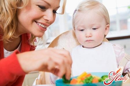 какие овощи можно давать ребенку до года